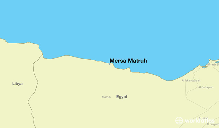 map showing the location of Mersa Matruh