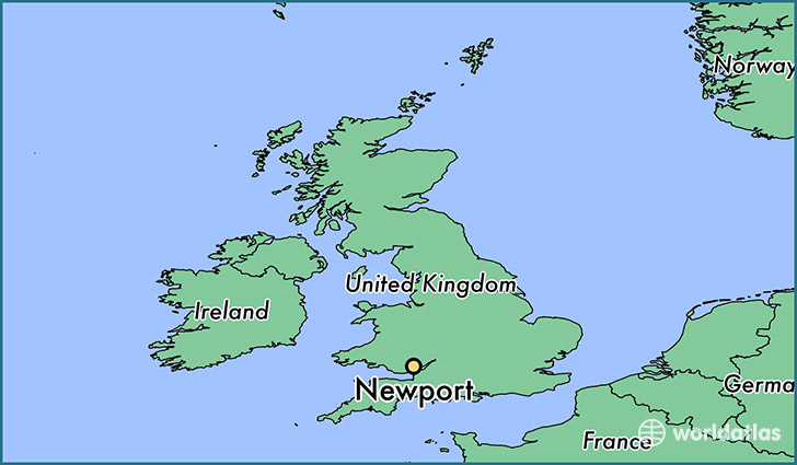 map showing the location of Newport