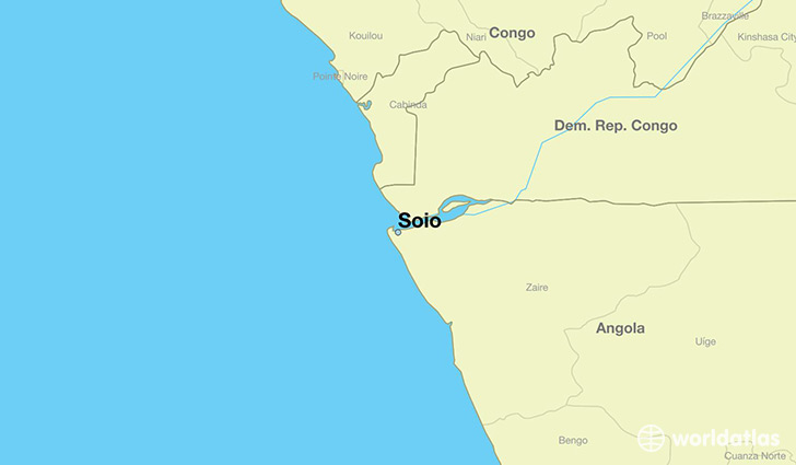 map showing the location of Soio