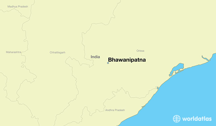 map showing the location of Bhawanipatna