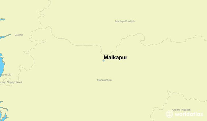 map showing the location of Malkapur