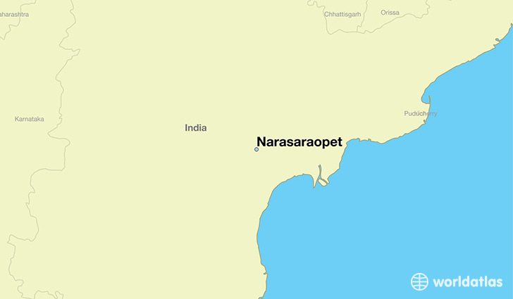 map showing the location of Narasaraopet