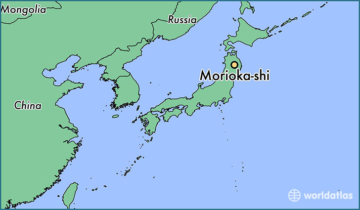 map showing the location of Morioka-shi