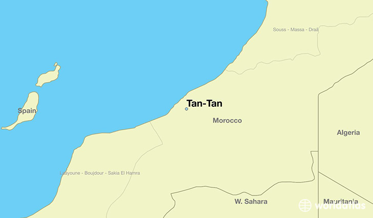 map showing the location of Tan-Tan