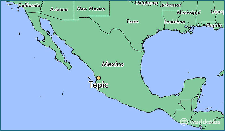 map showing the location of Tepic