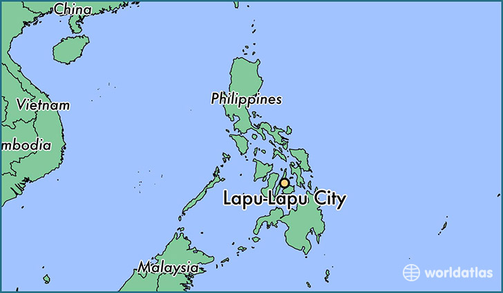 map showing the location of Lapu-Lapu City