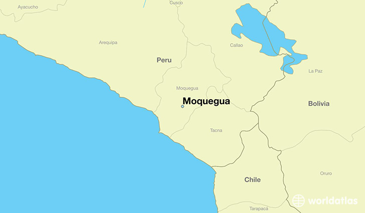 map showing the location of Moquegua