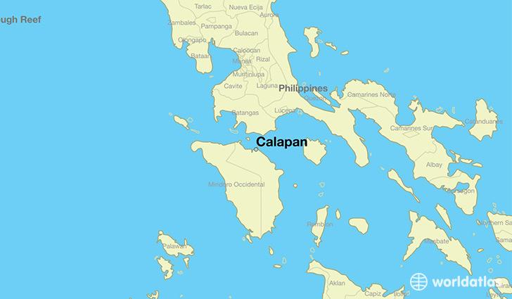 map showing the location of Calapan