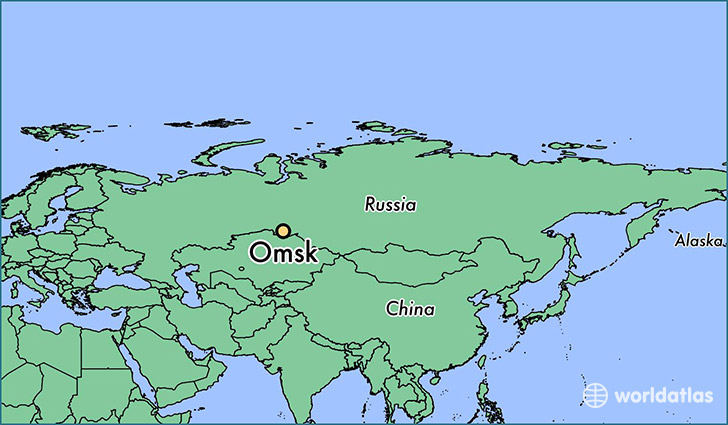 map showing the location of Omsk