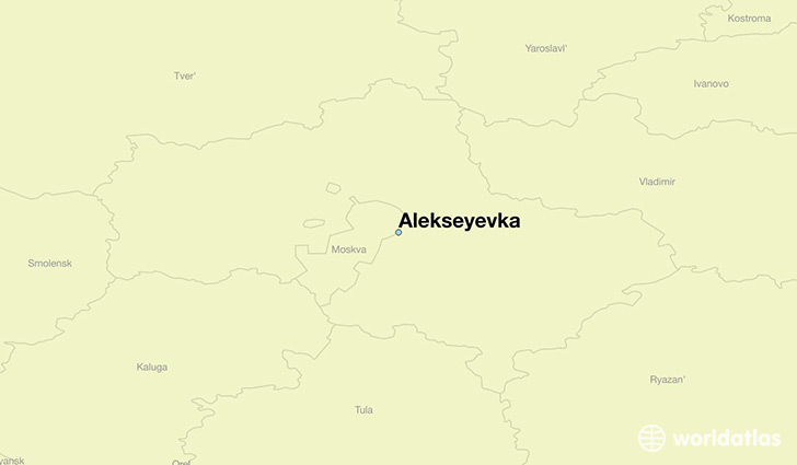 map showing the location of Alekseyevka