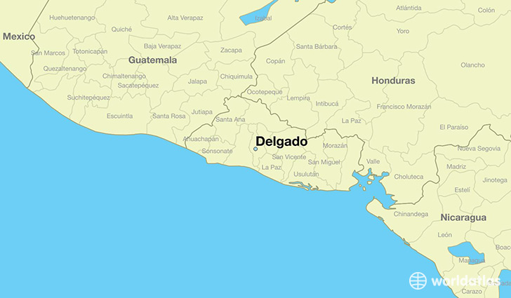 map showing the location of Delgado