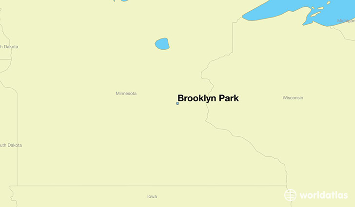 map showing the location of Brooklyn Park
