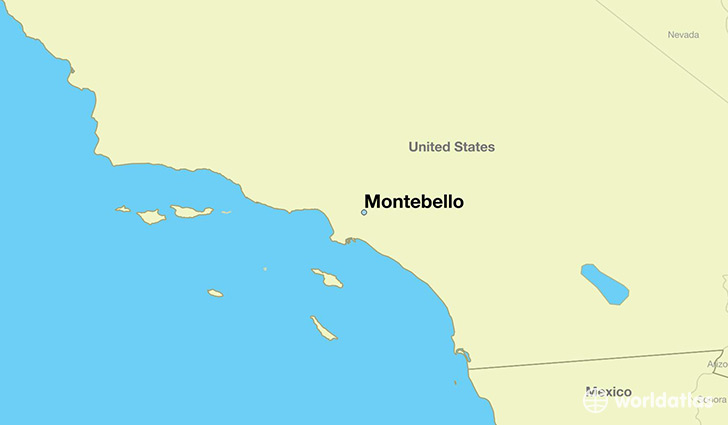 map showing the location of Montebello