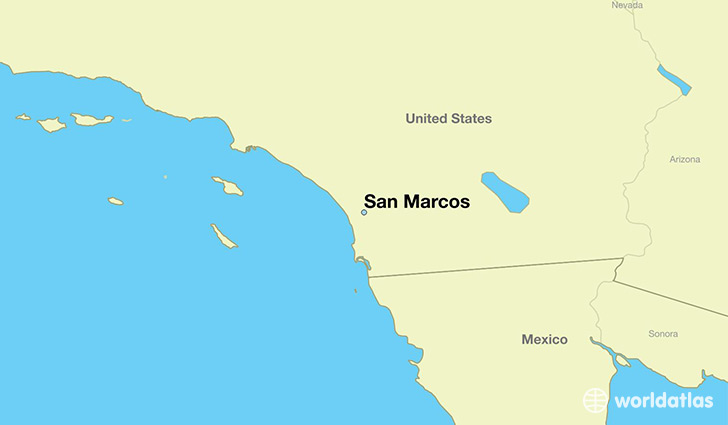 map showing the location of San Marcos