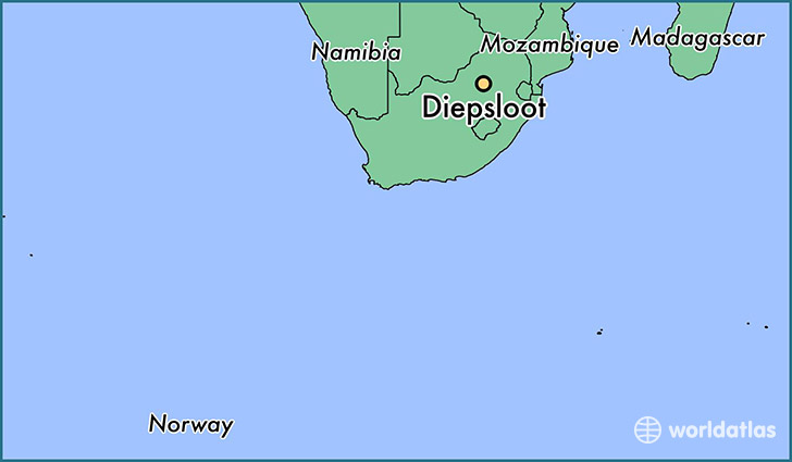 map showing the location of Diepsloot