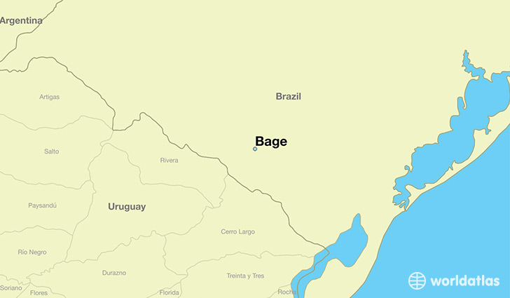 map showing the location of Bage