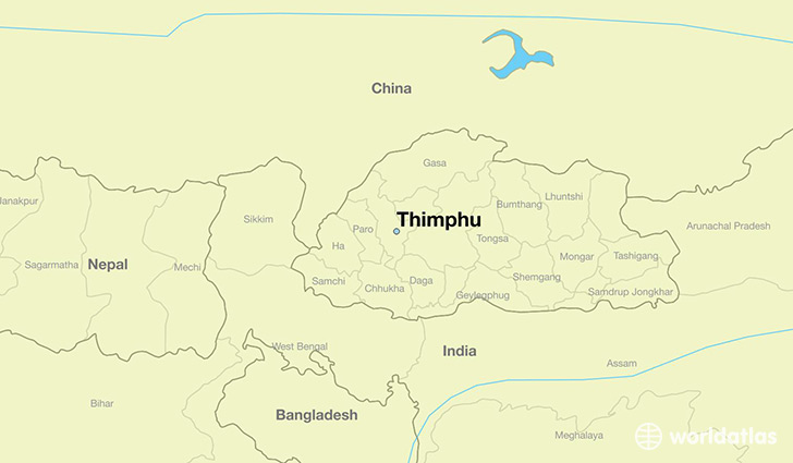 Where is Thimphu, Bhutan? / Thimphu, Thimphu Map ...