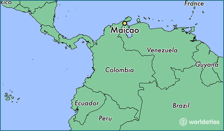 map showing the location of Maicao