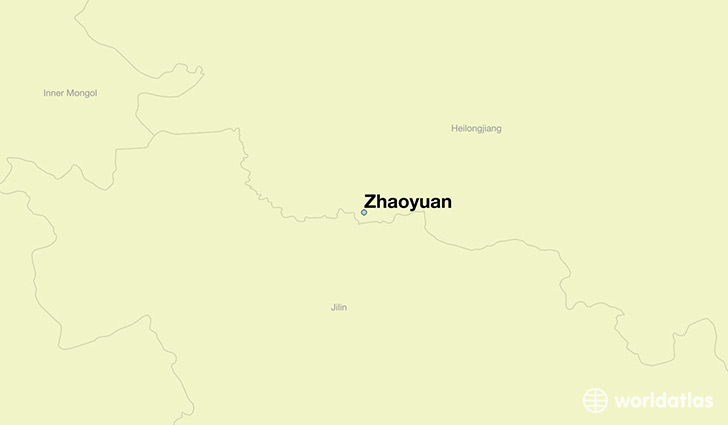 map showing the location of Zhaoyuan