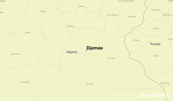 map showing the location of Djamaa
