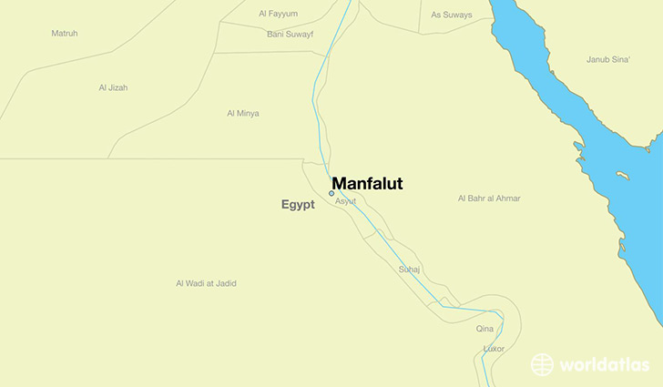 map showing the location of Manfalut
