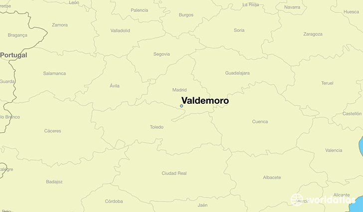 map showing the location of Valdemoro