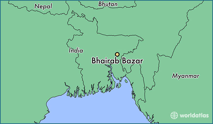 map showing the location of Bhairab Bazar