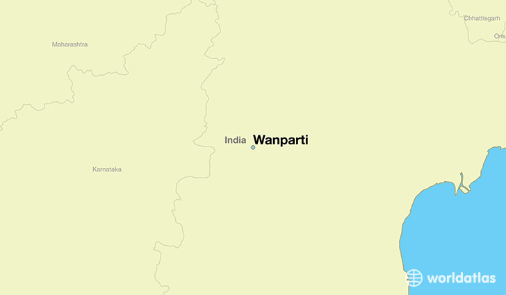 map showing the location of Wanparti
