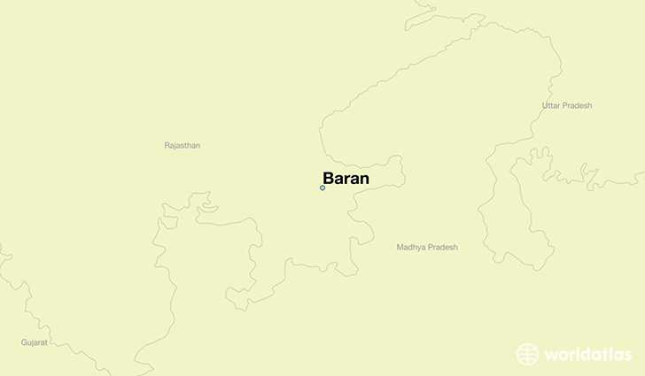 map showing the location of Baran