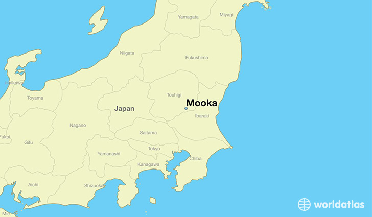 map showing the location of Mooka