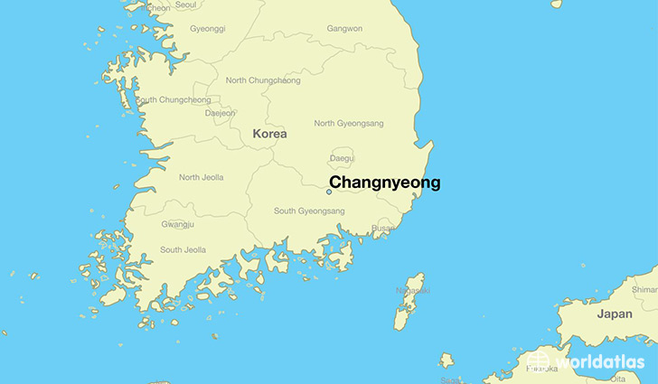 map showing the location of Changnyeong