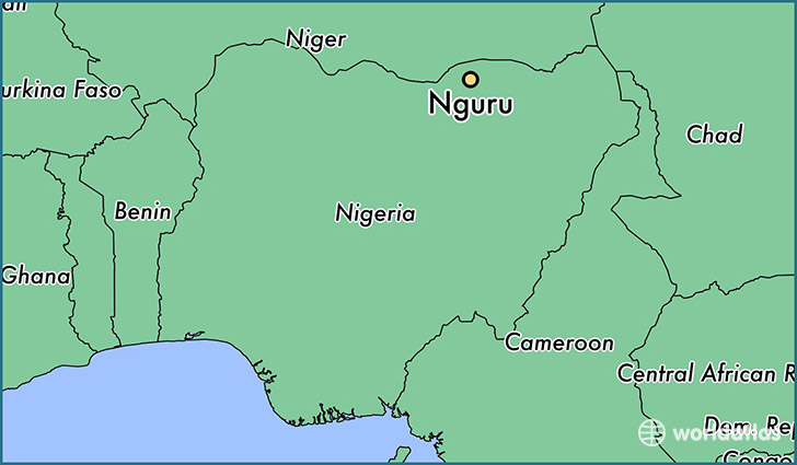 map showing the location of Nguru