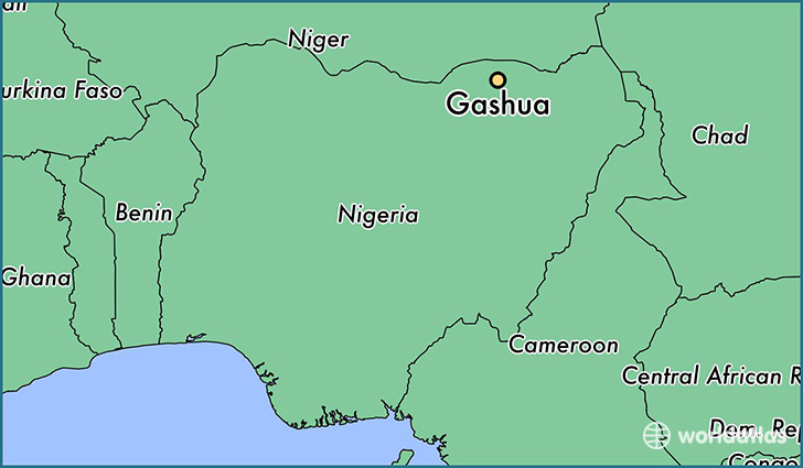 map showing the location of Gashua