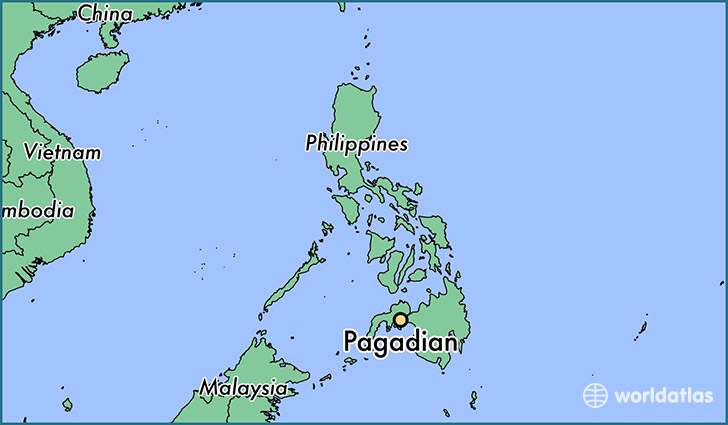 map showing the location of Pagadian