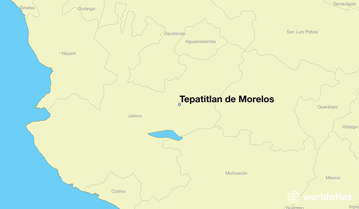 map showing the location of Tepatitlan de Morelos