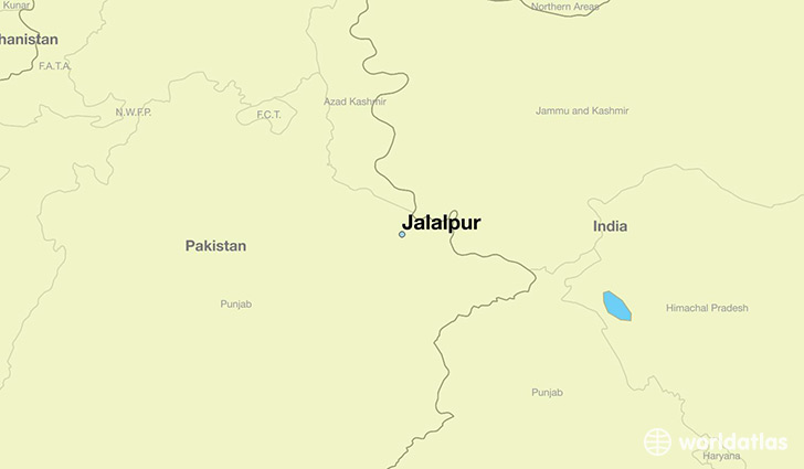 map showing the location of Jalalpur