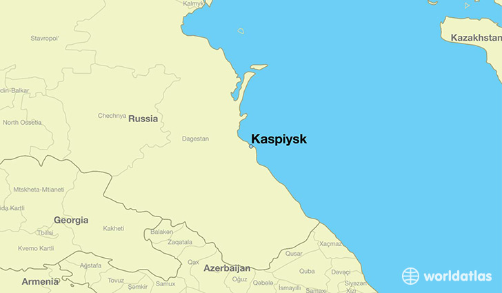 map showing the location of Kaspiysk