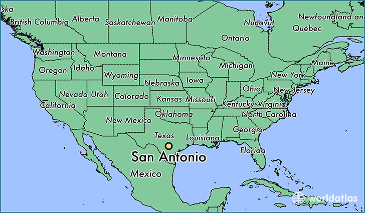 Map Of Texas San Antonio.Where Is San Antonio Tx San Antonio Texas Map Worldatlas Com