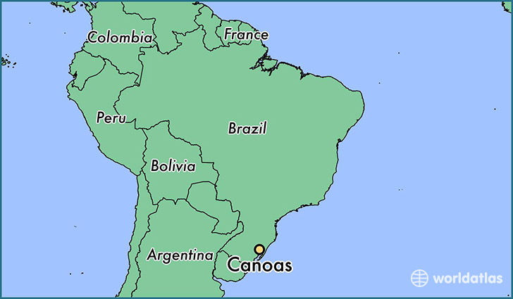 map showing the location of Canoas