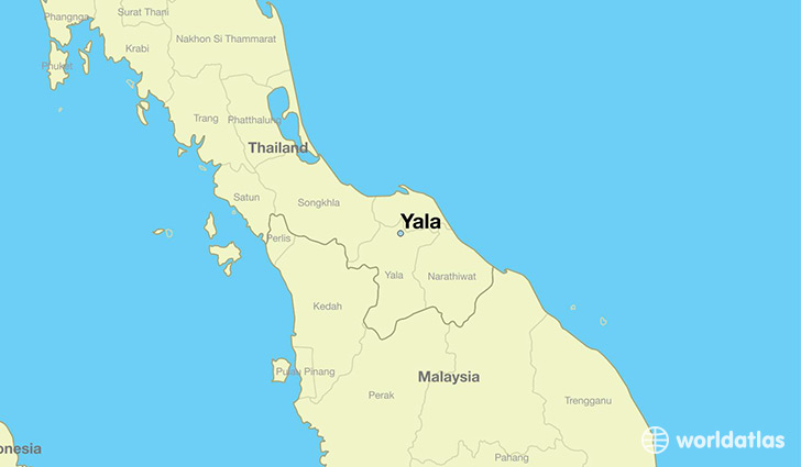 map showing the location of Yala