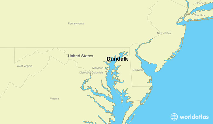 map showing the location of Dundalk
