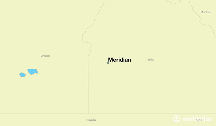 map showing the location of Meridian