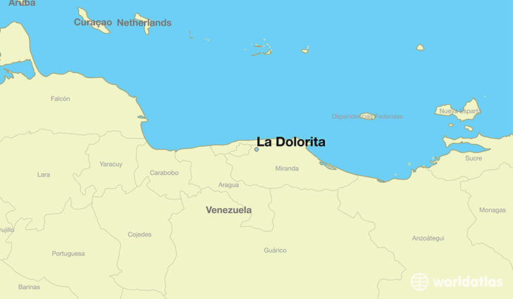 map showing the location of La Dolorita
