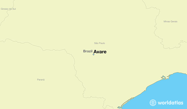 map showing the location of Avare