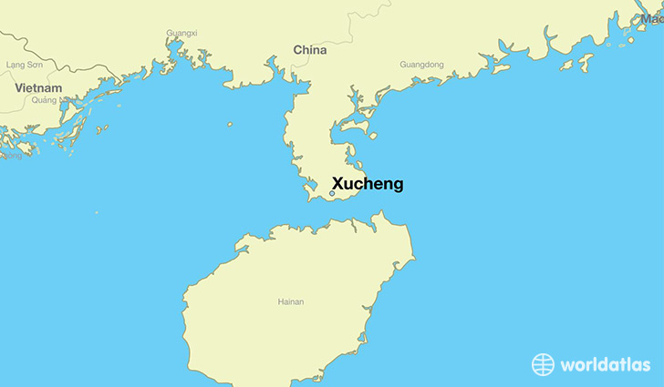 map showing the location of Xucheng