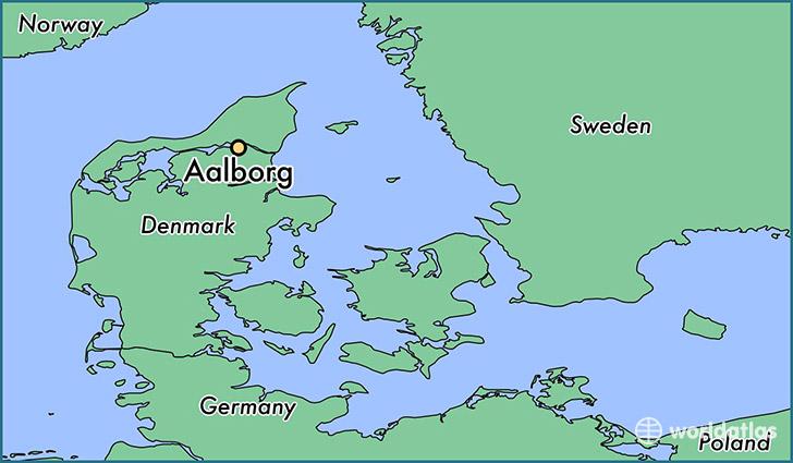 Where is Aalborg Denmark Aalborg North Denmark Map WorldAtlascom