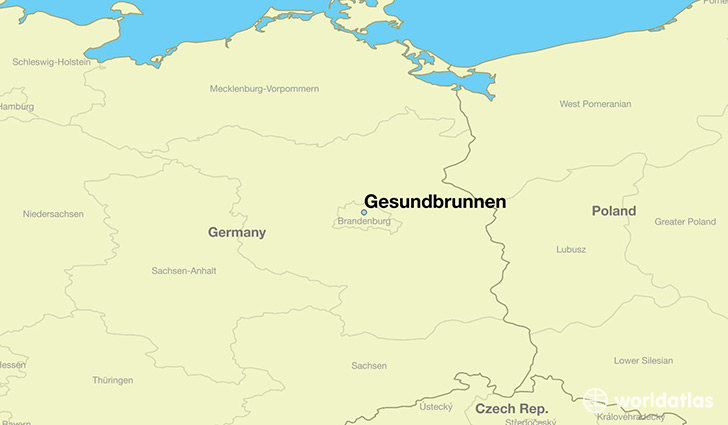 map showing the location of Gesundbrunnen