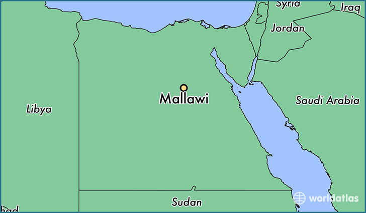 map showing the location of Mallawi