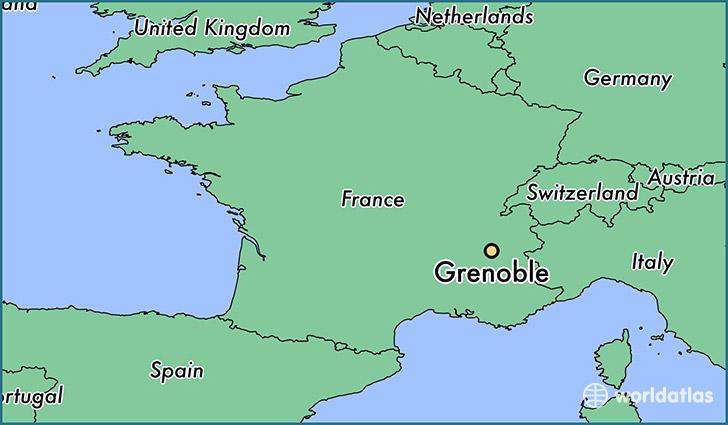 where is grenoble france grenoble rhone alpes map. Black Bedroom Furniture Sets. Home Design Ideas