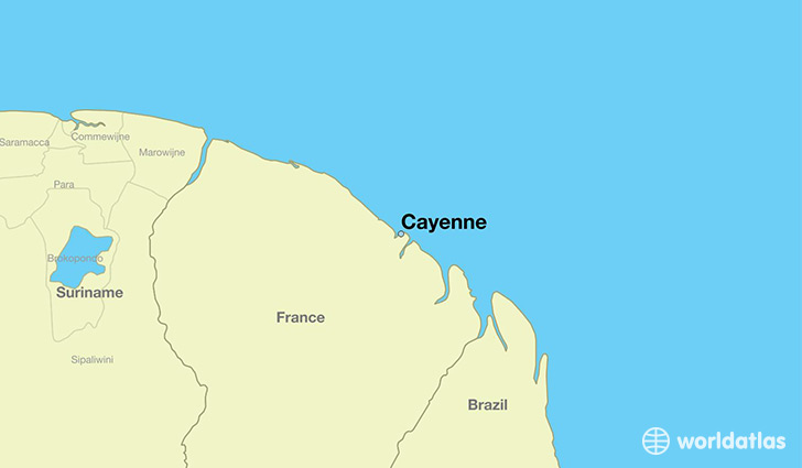 Where is cayenne french guiana cayenne french guiana map map showing the location of cayenne gumiabroncs